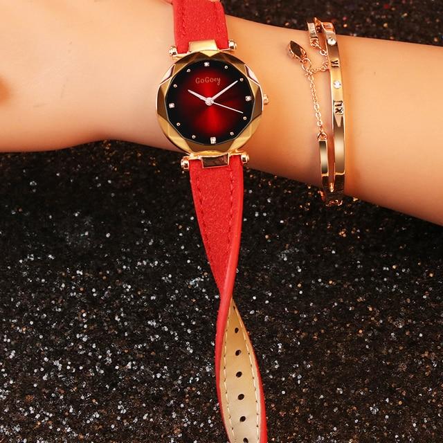 Gogoey Fashion Women Wrist Watch Luxury Crystal Watch Women Watches Top Brand Ladies Watch Clock relogio feminino reloj mujer