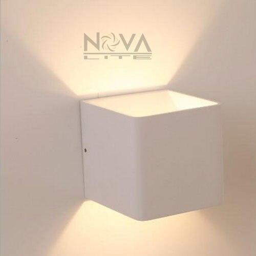 2pcs Modern Headboard Light Led Bedside Lamp Wall Mount Hotel Lighting Up Down Sconces Indoor