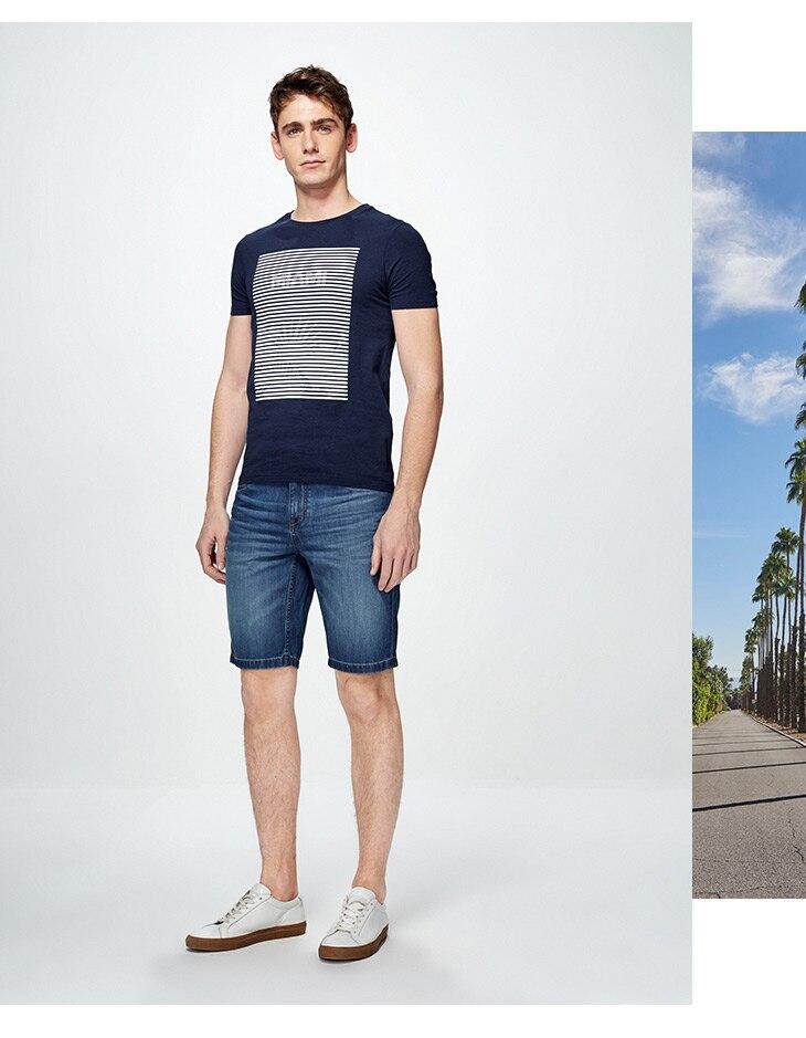 HTB1oUFWjFooBKNjSZFPq6xa2XXai - SELECTED  cotton round collar short-sleeved T-shirt C|4182T4593