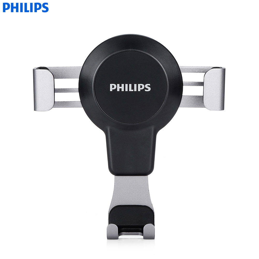 PHILIPS DLK35008 Universal Car Mobile Phone Holder For IPhone Sumsang 360 Degree Rotation Adjustable Auto Mount Holder