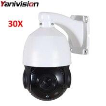 4 cal Rozmiar Mini 1080 P 4MP IP kamera Sieciowa PTZ Prędkości Onvif kopułkowa PTZ 30X Zoom Optyczny Kamery IP CCTV 50 m IR Night Vision