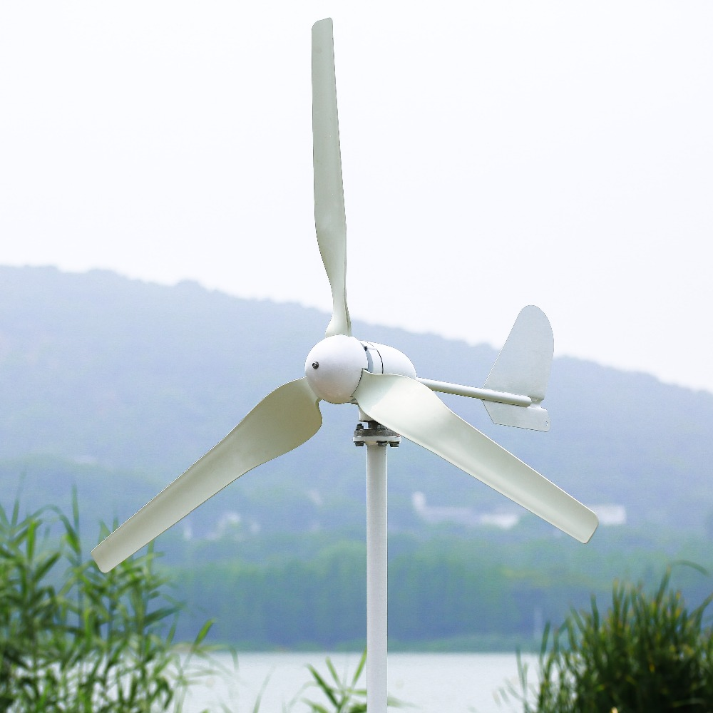 600W horizontal axis wind turbine 3 blades 24V 48V wind generator max 620W CE certificated 3 years warranty 1kw horizontal wind turbine generator 3 5 blades start up 2m s 24v 48v optional wind generator ce approval