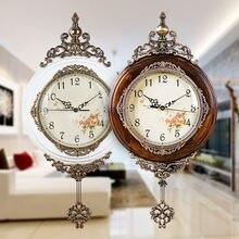 Классические деревянные настенные часы европейский старинный