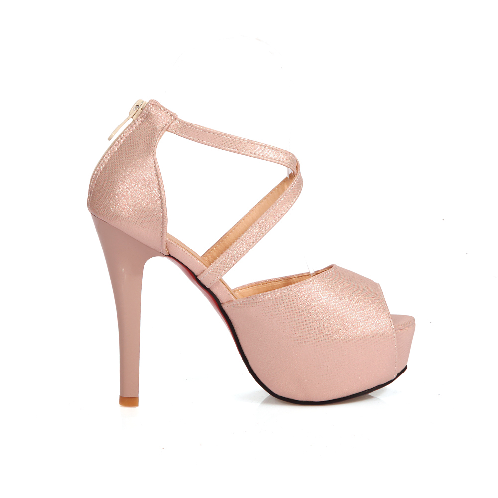 2017 New women sandals thin high heels shoes woman peep toe wedding shoes summer dess shoes ladies sandals