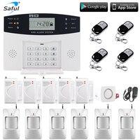 Saful Wireless Home Security GSM Alarm system LCD display Wireless Security Alarm SMS Alert alarm system PIR Sensor Sirens