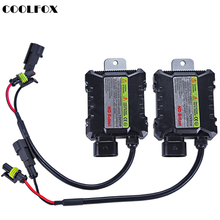COOLFOX 2Pcs HID Ballast Digital hid Ballasts Control Ignition Unit Block Transformer For All Xenon Light Kit DC 12v 55w