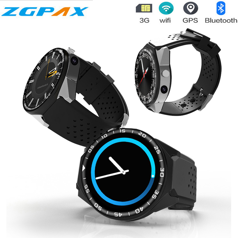 2018 New ZGPAX S99C 3G Smartwatch Phone Android 5.1 MTK6580 Quad Core 4GB / 16GB ROM Camera Pedometer Bluetooth GPS Smart Watch zgpax s99c 3g smartwatch phone 1 39 inch android 5 1 mtk6580 quad core 1gb ram 16gb rom camera pedometer bluetooth