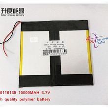 3,7 V 10000mAh 40116135 NTC; полимерный литий-ионный/литий-ионный аккумулятор для планшетных ПК, банка питания, сотового телефона