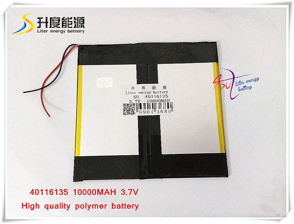3.7 V 10000 mAh 40116135 NTC; Polímero de íon de lítio/bateria Li-ion para tablet pc, POWER BANK, telefone celular