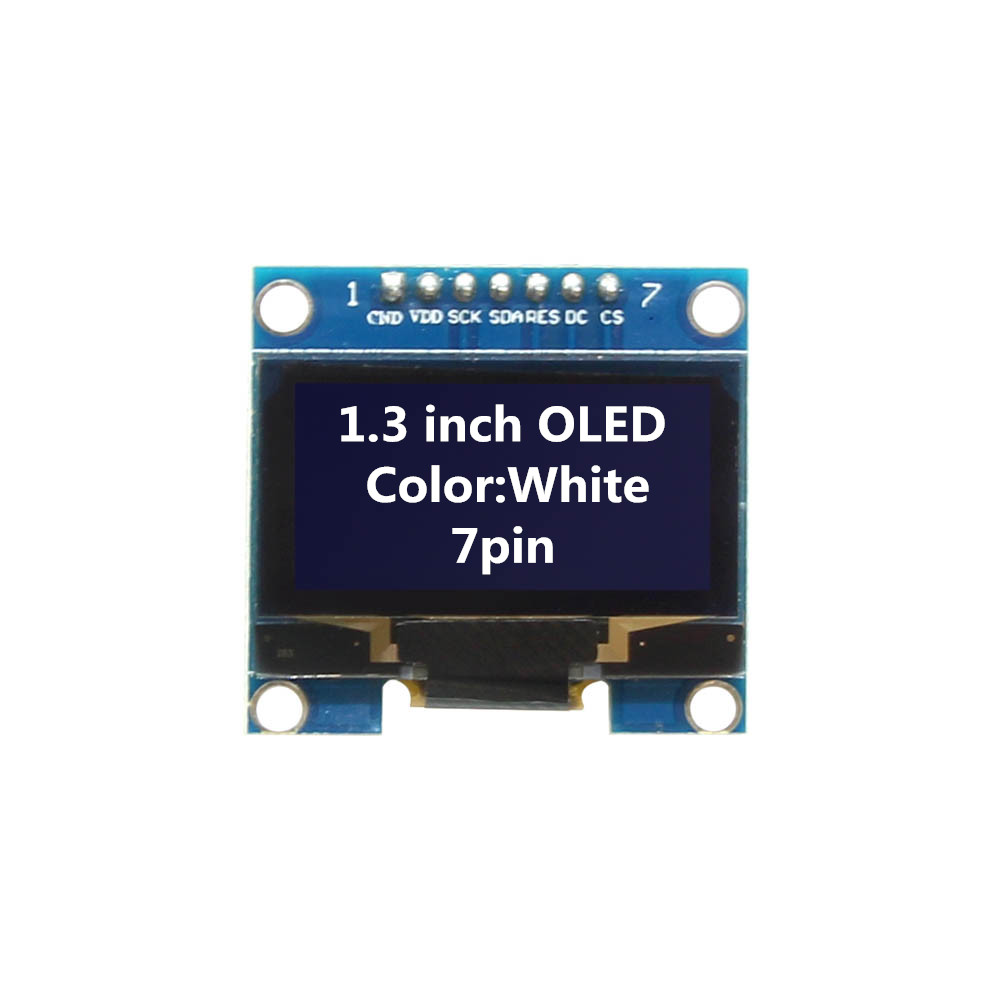 1.3 inch OLED Module White Color 128X64 7 Pin OLED LCD LED Display Module 1.3 SPI Communicate for arduino Diy Kit  - buy with discount