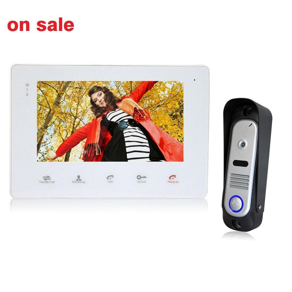 Homefong Cheap 7 inch Color LCD Monitor Video font b Door b font Phone Doorbell Intercom