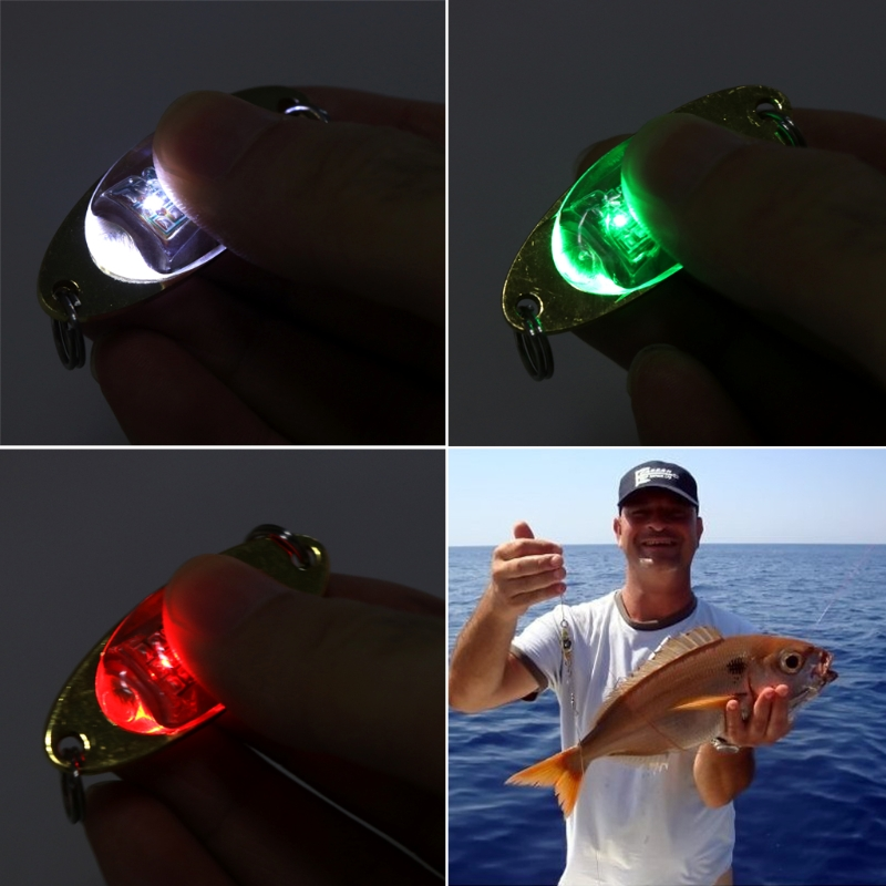 Fishing Lure LED Light Deep Fall Underwater Eye Shape Squid Lamp Tackle Flashing