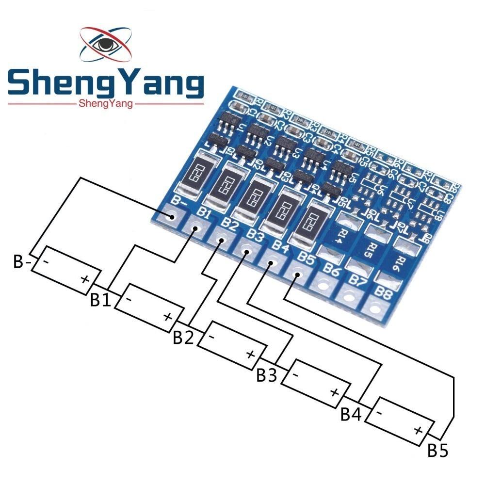 ShengYang 5S 4,2 в, балансировочная плата для литий-ионных аккумуляторов 18650 21 в, балансировочная плата для литий-ионных аккумуляторов с полной зар...