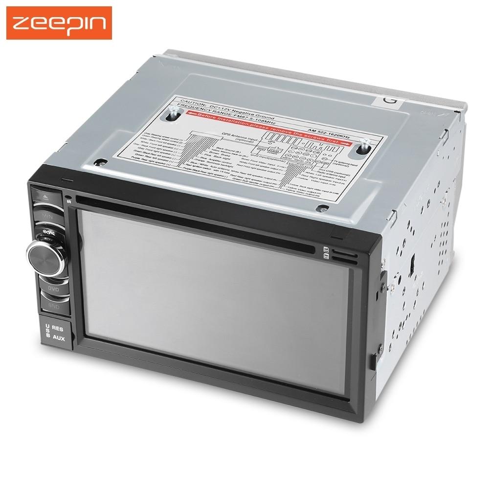 imágenes para Zeepin 2 Din 6.5 pulgadas de Coches Reproductor de DVD ROM 14.68G Bluetooth Radio Video Pantalla Táctil Digital GPS
