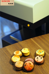 Image 5 - 2020 Fatory Supplier 4 cups Inkjet Coffee printer Macaroon print on 9 cakes,Marlon,Jelly,cotton candy,fresh fruit directly