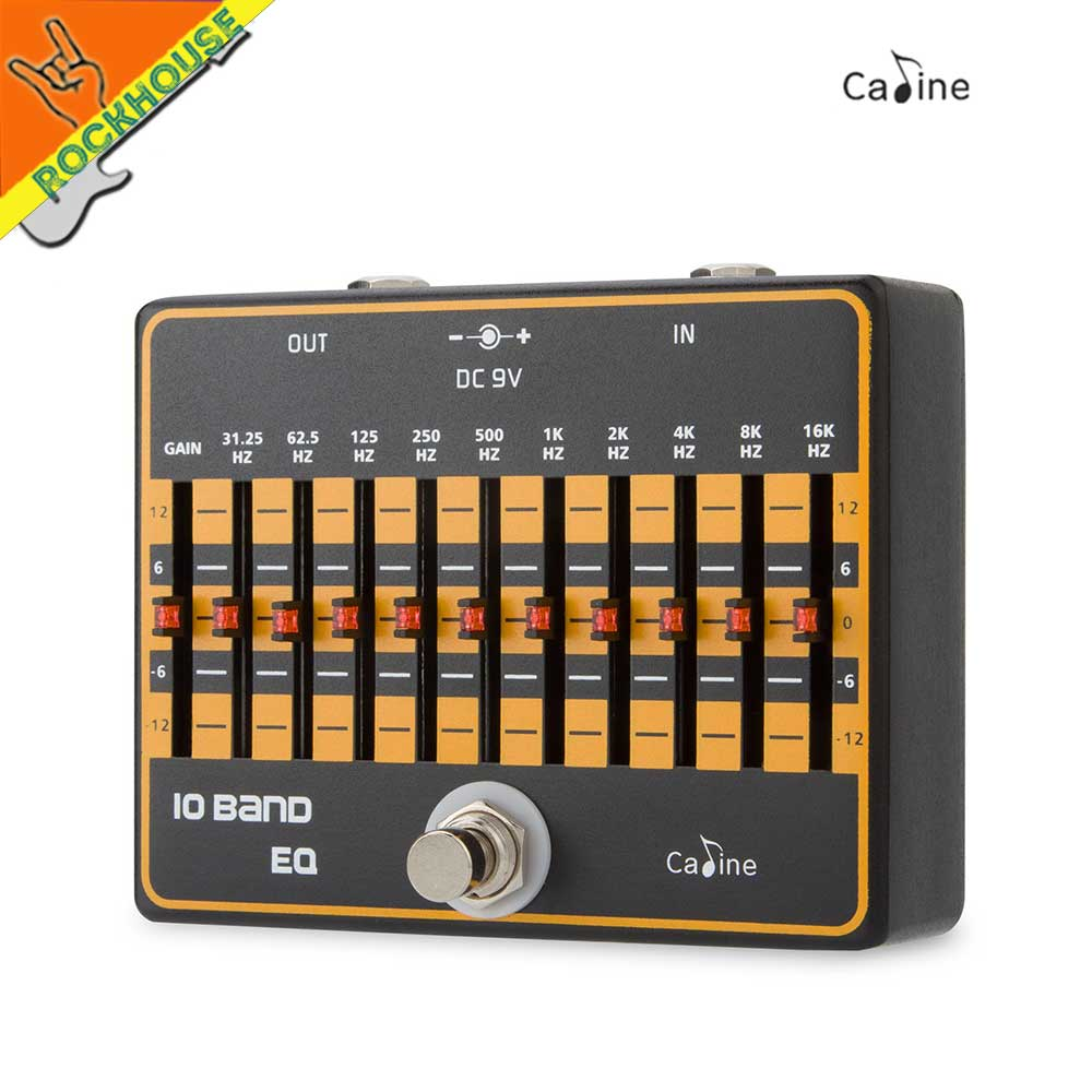 Caline 10 Bands Guitar EQ Effects Pedal Guitar Equalizer Pedal EQ Effect Pedal Equalizer True Bypass Free Shipping joyo eq 307 folk guitarra 5 band eq acoutsic guitar equalizer high sensibility presence adjustable with phase effect and tuner