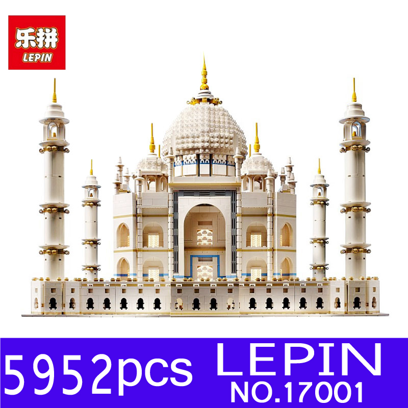 LEPIN 17001 5952pcs The Tai Mahal Model Kits Building Blocks Bricks Toys Compatible 10189 for Children Educational Funny Gifts lepin17001 city street tai mahal model building blocks kids brick toys children christmas gift compatible 10189 educational toys