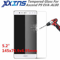 "Tempered Glass For Huawei Ascend P9 EVA-AL00 phone Screen protective 5.2"" inch cover discount free gift sensor"