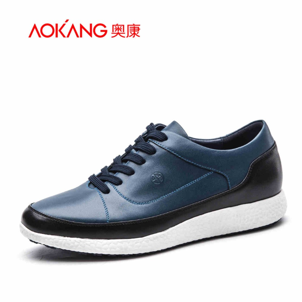 AOKANG 2016 Spring Autumn Men's Casual Shoes New Style Fashionable Comfortable Men flat Shoe Lace-Up For Wholesale And Retailer 2016 spring autumn europe china style new tide men canvas casual shoes blue black letters print sewing elastic band flat shoes