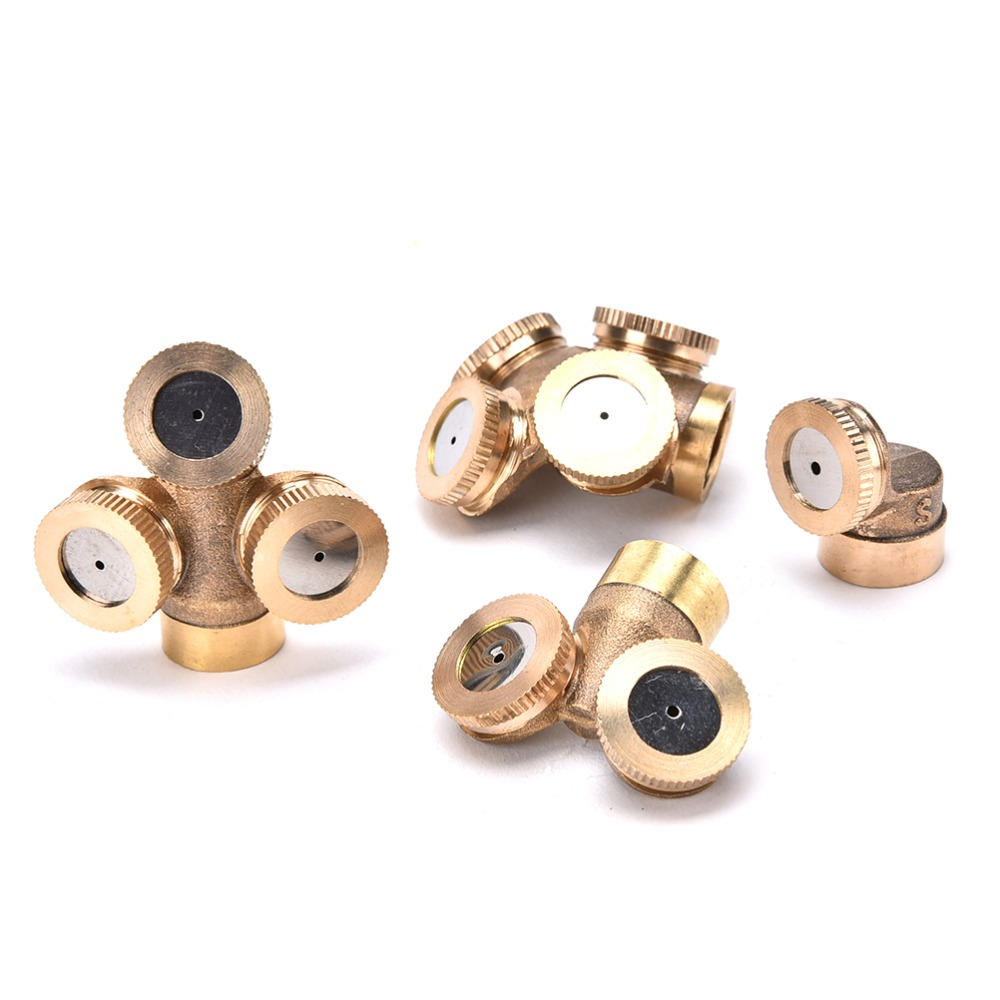 New Style 1/2/3/4 Nozzles Brass Agricultural Misting Spray Nozzle Garden Irrigation Sprinkler System