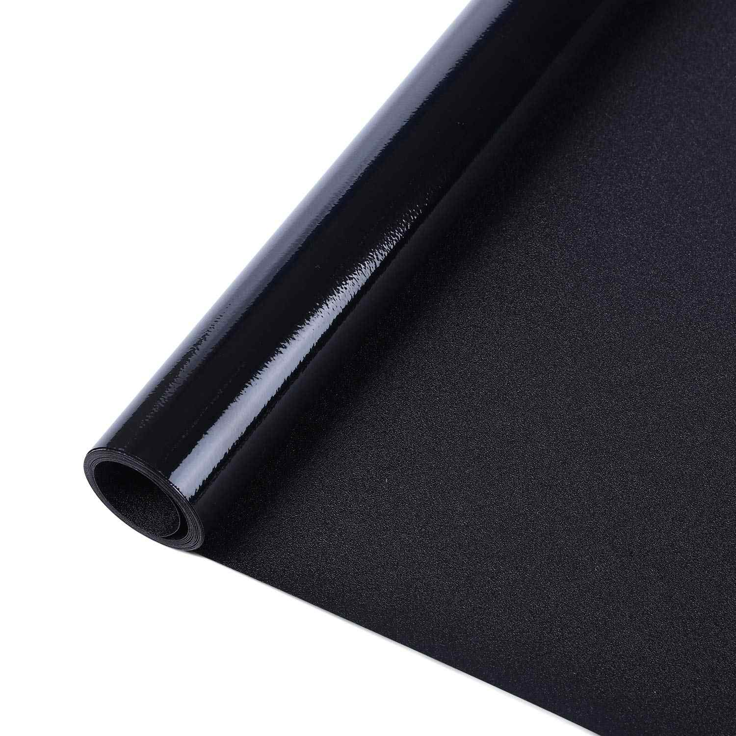 Funlife Window Blackout Film Vinyl Static Cling Tint Darkening Frosted Black Window Sticker Insulation 100% Light Blocking Film