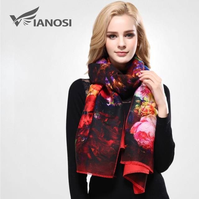 [VIANOSI] Newest Design Bandana Printing Winter Scarf Women Shawls Thicken Warm Scarves Wool Brand Scarf Woman Wrap VD070
