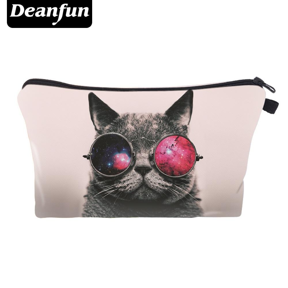 Deanfun Cat Cosmetic Bags 3D Printed Zipper  Hot Sale Women's Make Up Travel Storage Fashion Cute 50178