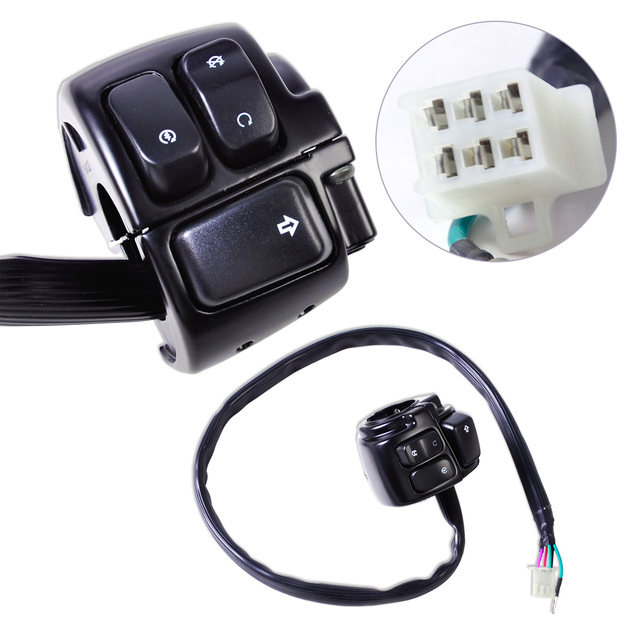 CITALL Motorcycle 1 Handlebar Ignition Kill Switch Wiring Harness for Harley Davidson Softail Dyna Sportster 1200_640x640 citall motorcycle 1\