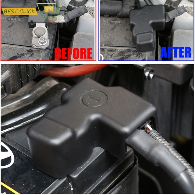 For KIA CEED RIO Pride K2 K3 Rondo Carens Morning Picanto Battery Batteries Negative Electrode Protector Terminal Pole Cover Kit