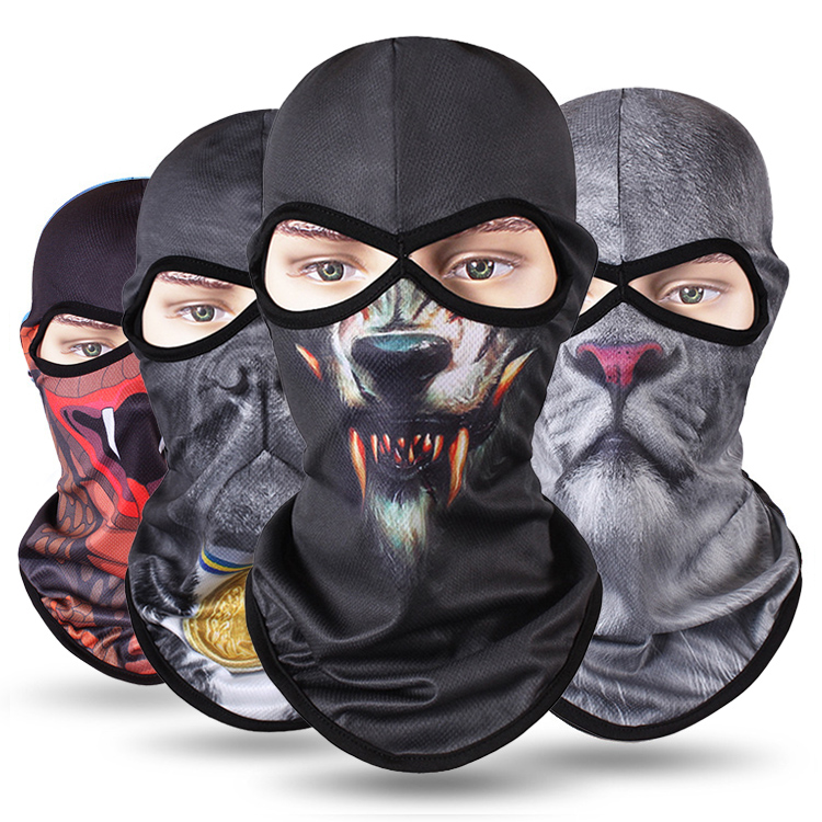 New Balaclava Animal Motorcycle Mask Tactical Balaclava Face Shield Breathable Face Mask Motorcycle Biker Moto Helmet Skull Mask in Motorcycle Face Mask from Automobiles Motorcycles