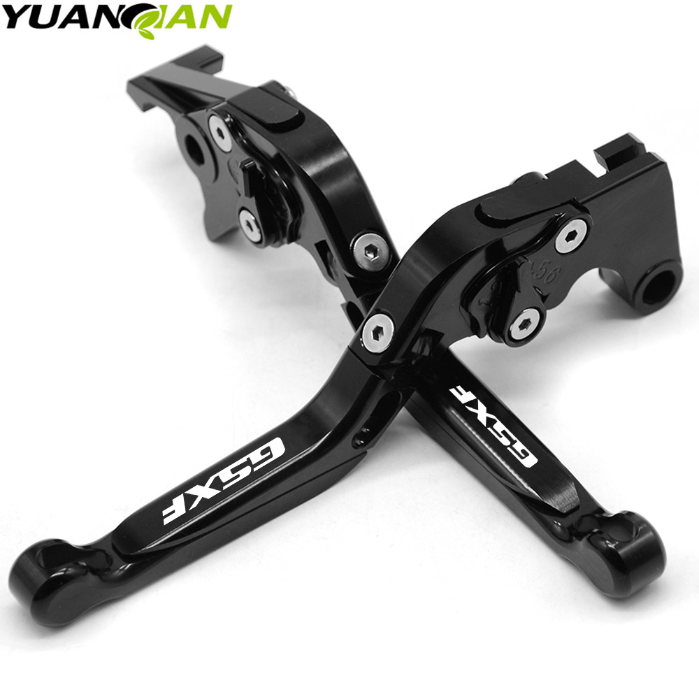 GSXF logo Motorcycle Accessories Folding Extendable Brake Clutch Levers For SUZUKI GSX650F GSX 650F 2008 2015 2009 2010 2011 in Levers Ropes Cables from Automobiles Motorcycles