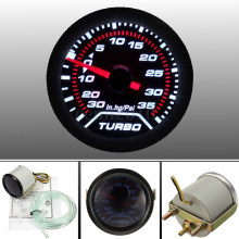 2inch 52mm Universal Car Auto LED Turbo Boost gauge Vacuum Press Gauge Smoked Dials Face Psi(China)