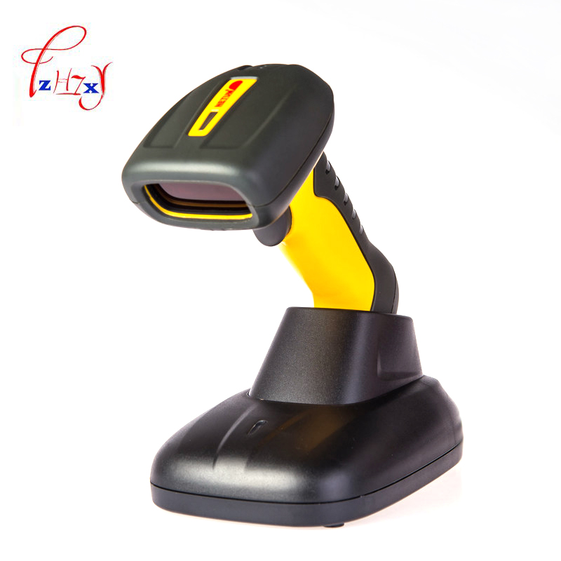 handheld waterproof wireless barcode scanner(with storage function) Barcode Scanner fast scanning 1pc 433mhz wireless ccd barcode scanner portable barcode reader bar gun with base charger and receiver in one with storage function