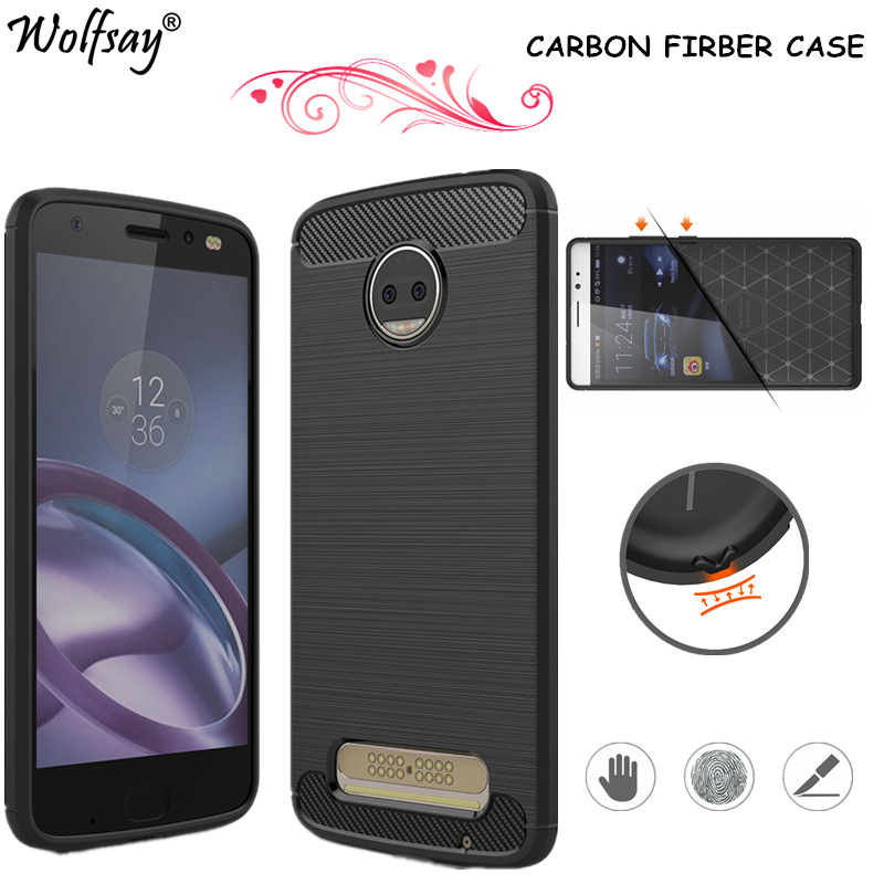 Wolfsay For Phone Cover Motorola Moto Z2 Force Case Rubber Soft Silicone Case For Motorola Moto Z2 Case Fundas For Moto Z2 Force