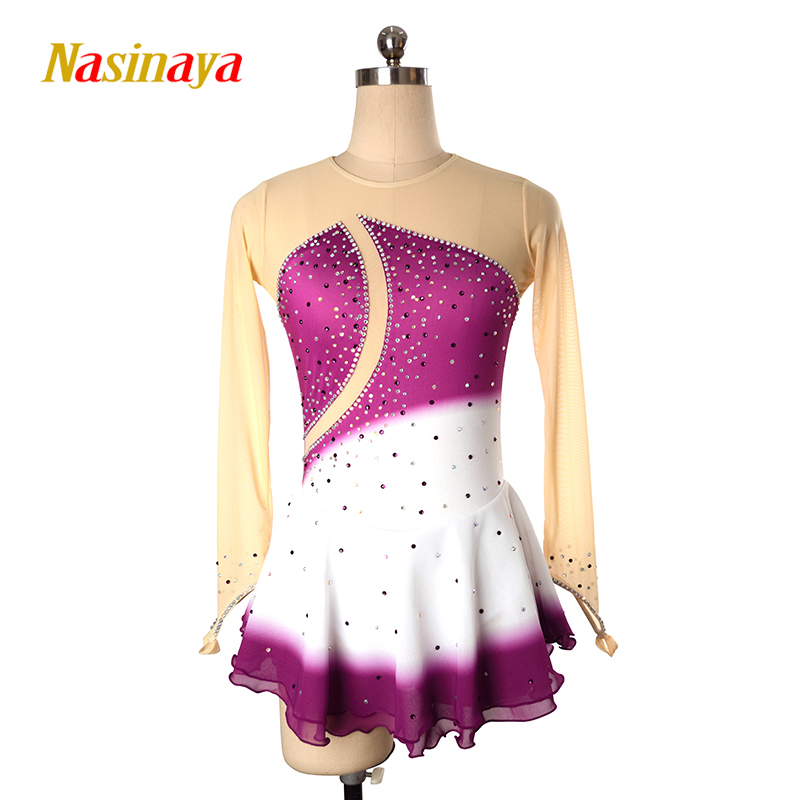 Nasinaya Figure Skating Dress Customized Competition Ice Skating Skirt For Girl Women Kids Patinaje Gymnastics Performance 225