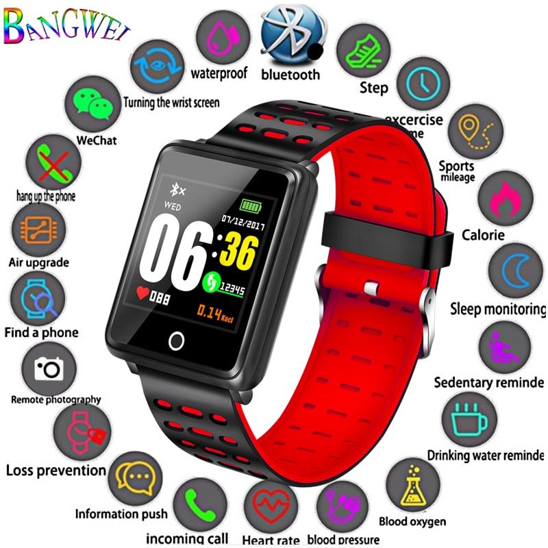Digital Watches Gejian2019 New Smart Watch Men Women Heart Rate Blood Pressure Blood Oxygen Monitoring Pedometer Sports Fitness Smart Watch