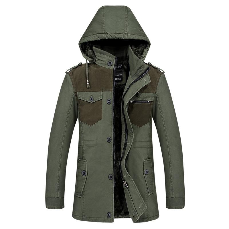 Hooded winter warm fleece trench coat mens overcoat cotton patchwork fitness men trenchcoat single breasted windbreaker big size