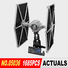 1685pcs Lepin 05036 Star War Series Tie Fighter Building Educational Blocks Bricks Toys Compatible 75095 Brithday Gifts