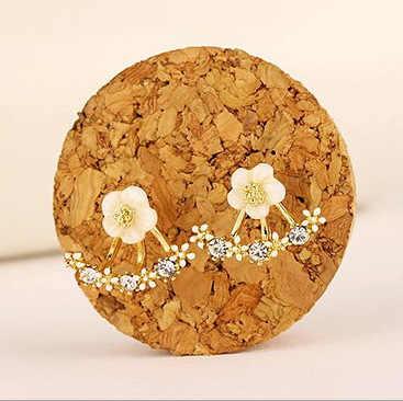 สร้อยข้อมือพลอยด์สไบบลูเบอร์รี่ BYSPT ดอกไม้คริสตัลต่างหู Rose gold สีด้านแฟชั่นเครื่องประดับต่างหูหญิงหู brincos ที่รอดำเนินการ