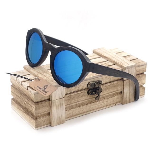 Bobobird g4-2 artesanal ébano madeira óculos de sol das mulheres new arrival 2017 caixa de madeira de madeira do vintage óculos de sol oculos de sol feminino