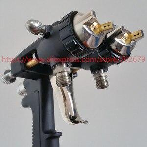 Image 2 - 送料無料ナノクローム絵画デュアルヘッド空気圧噴霧器ホット売上高でダブルノズルスプレーガン