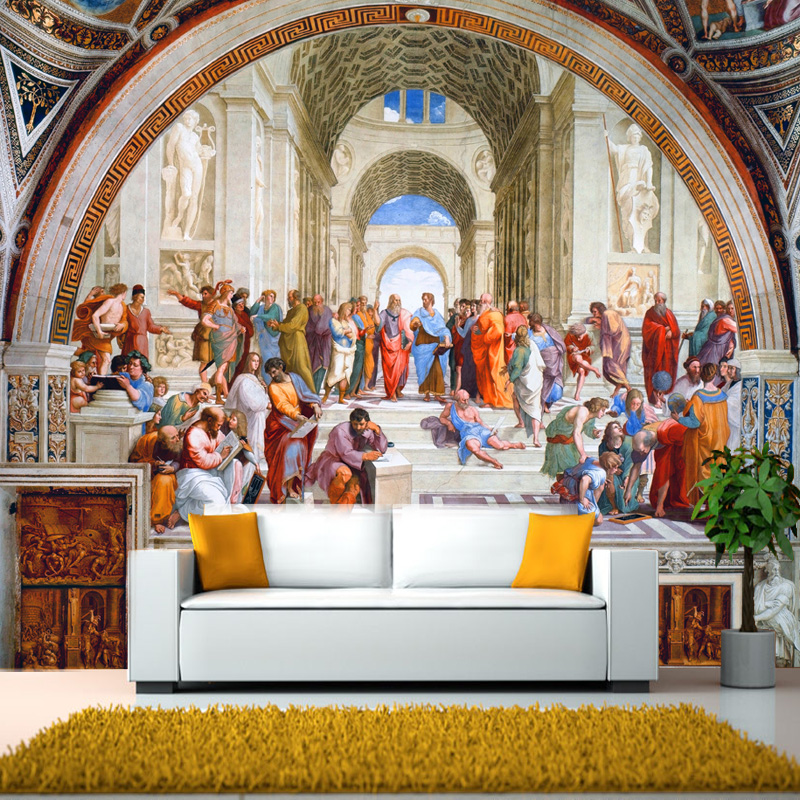 photo wallpaper Western European classical mural paintings Rome famous living room wallpaper hotel wallpaper