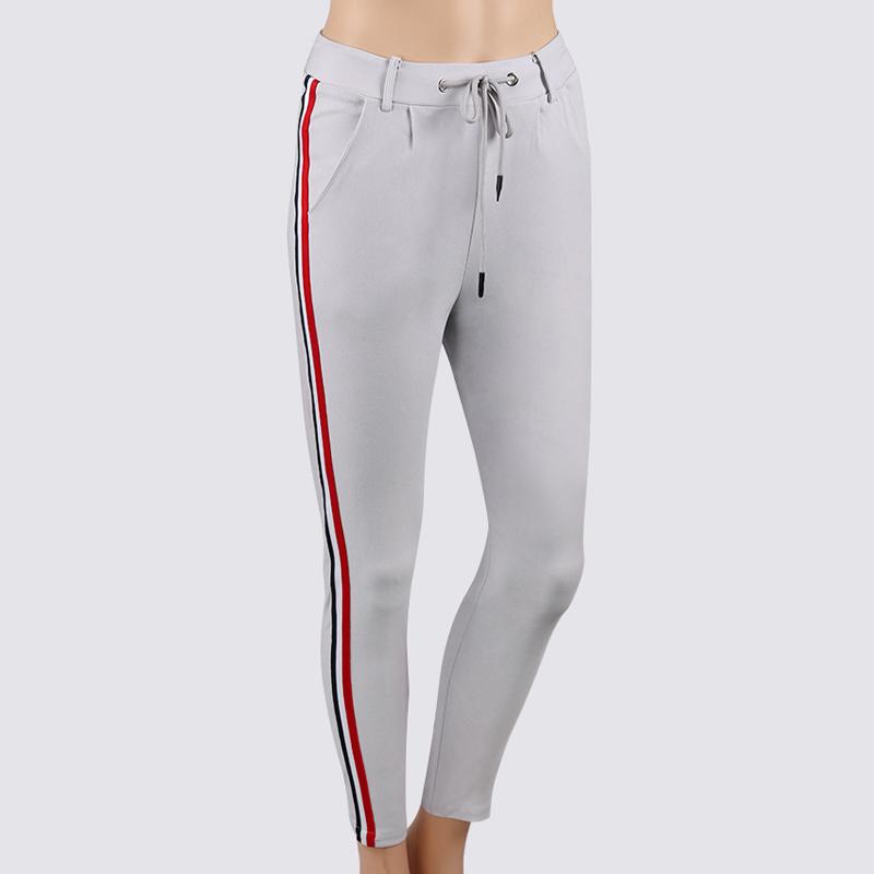 HTB1oUIXjUUIL1JjSZFrq6z3xFXaY - FREE SHIPPING High Waist Knit Red Striped Sideseam Sweatpants JKP257