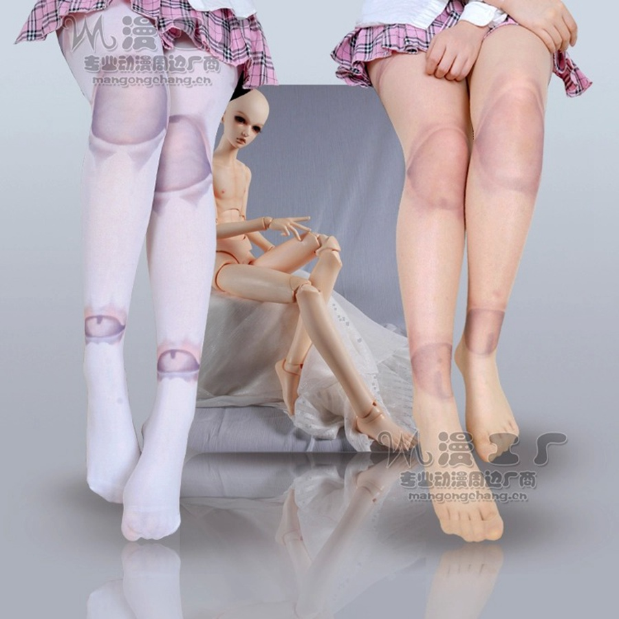 Gothic Lolita Tights Harajuku SD Ball Joint Tattoo Print Pantyhose Stockings