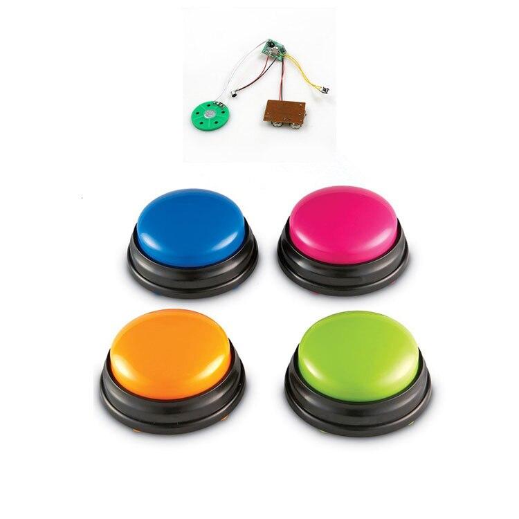 Envío gratis 4 unids/set botón de grabación de voz para niños juguetes de mensajes, botón de respuesta de juguete interactivo