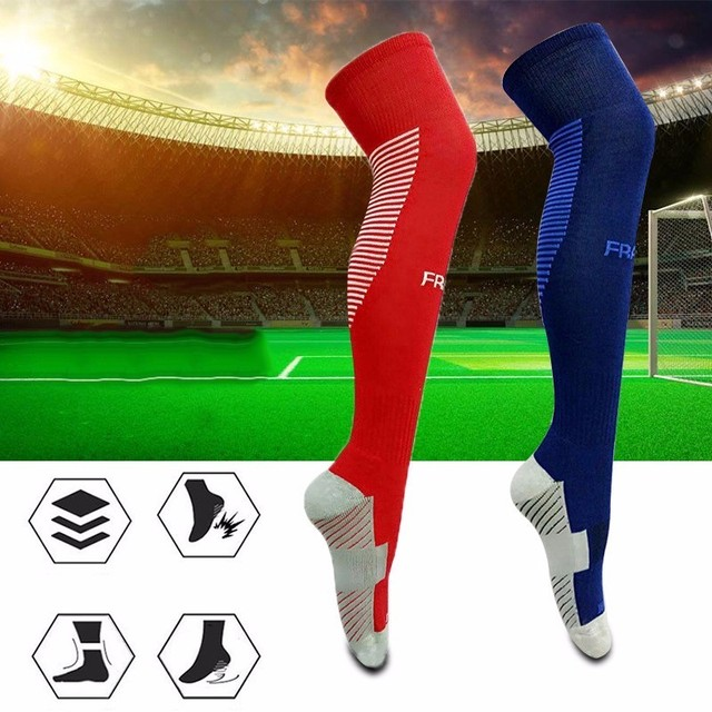 f7ad88853 Anti-skid Football Stockings Cycling Long Soccer Socks Winter Leg Warmers  Thickened Cotton Sports Socks For Adult Men and Women