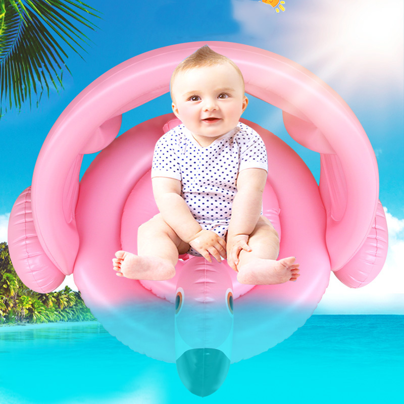 Baby-Shade-Swim-Float-Circle-Ring-Safe-Inflatable-Flamingo-Baby-Arm-Rings-Kids-Swimming-Seat-With (2)
