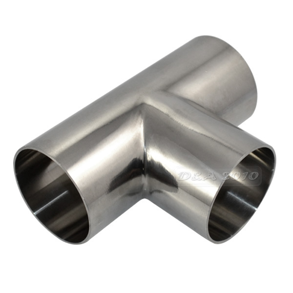MEGAIRON OD 51mm 2 Quality Sanitary Weld TEE 3 Way Pipe Fitting Stainless Steel SS316 Pipe Thickness 1.5mm 3 4 19mm od sanitary weld elbow pipe fitting 90 degree pipe fittings stainless steel ss316