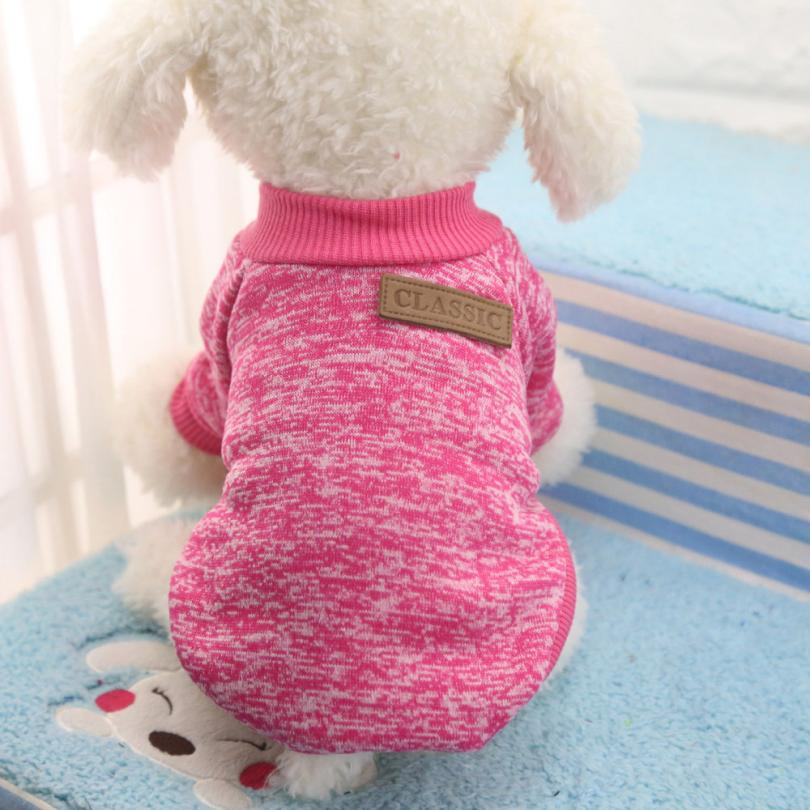 Newest 8 Color Pet Dog Puppy Classic Sweater Fleece Sweater Clothes Warm Sweater Winter Levert Dropship dig1222