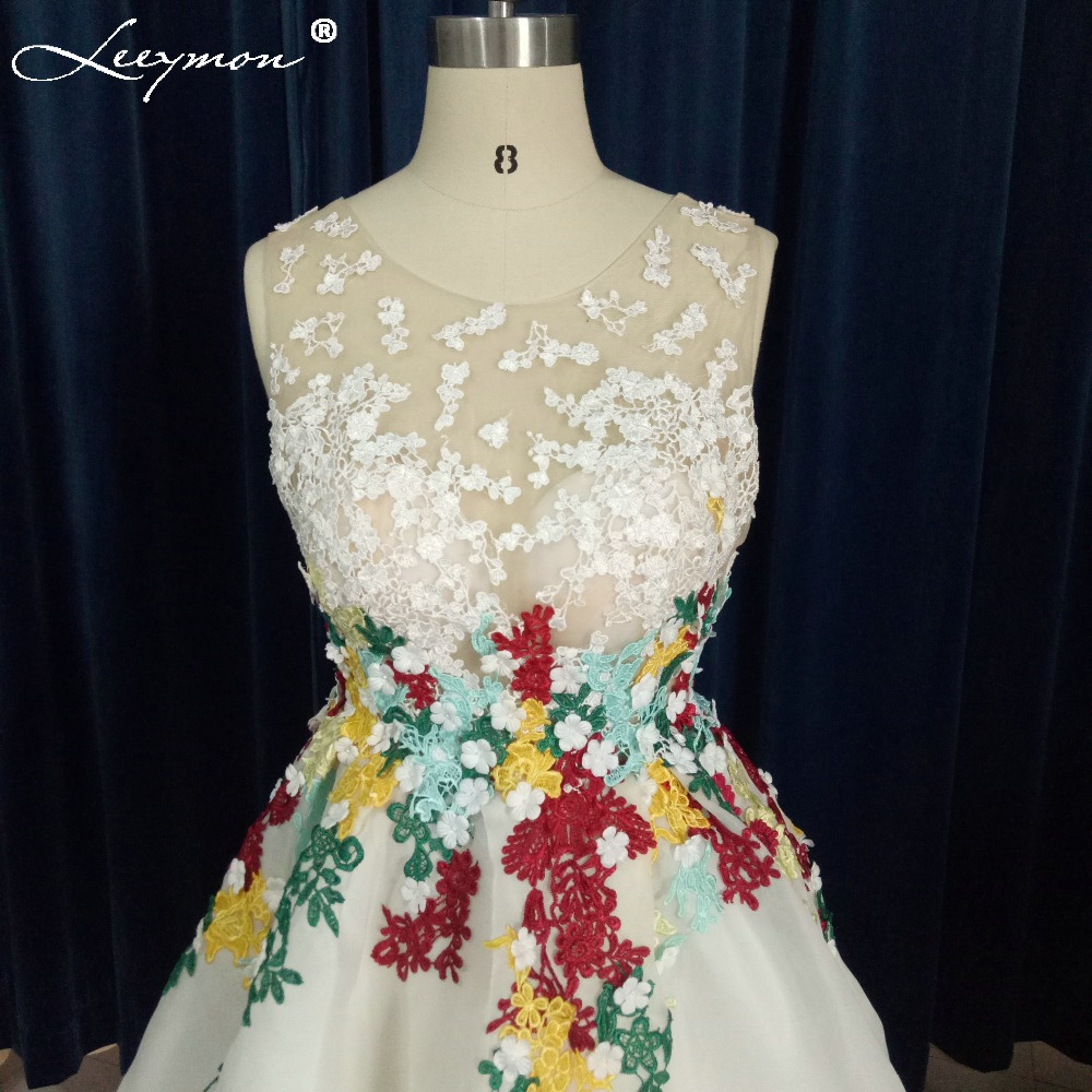 Stvarne fotografije Prozirna kratka prednja duga leđa Koktel haljina - Haljina za posebne prigode - Foto 4
